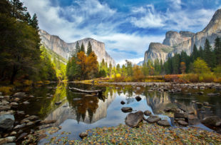 El Capitan and Merced River in the Autumn, Yosemite National Park.